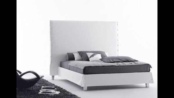 White High Bed Property Furniture - Black-and-white-bedroom-property