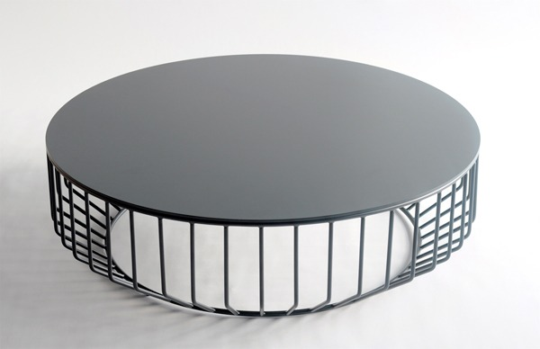wired coffee table metal top - property furniture