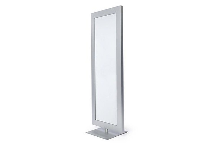 Swivel Aluminum Floor Mirror - Property Furniture