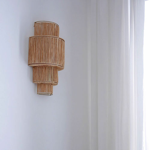 Raffia Wall Sconce Property Furniture