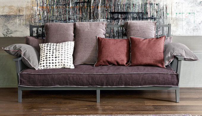 Gray Wood Sofa